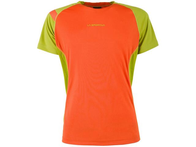 La Sportiva Apex S T-Shirt Herren flame/citronelle